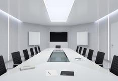 Sala de reunión moderna ilustración 3D Imagen de archivo libre de regalías