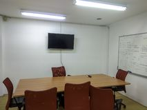 Sala de reunión para los oficinistas foto de archivo libre de regalías