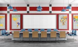 Sala de reunión roja y azul ilustración del vector