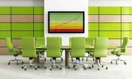 Sala de reunión verde stock de ilustración