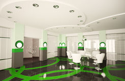 Sala de reuniões moderna 3d Fotografia de Stock