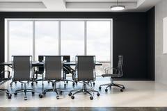 Sala de reuniões moderna com opinião da cidade ilustração do vetor