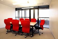 Sala de reuniões pequena imagens de stock royalty free