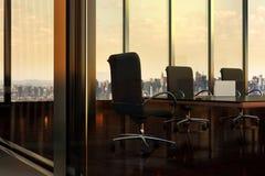 Sala de reuniões vazia no prédio de escritórios em New York City Imagem de Stock Royalty Free
