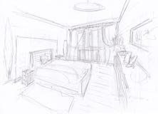 Sala de sono mediterrânea Fotografia de Stock Royalty Free