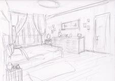 Sala de sono mediterrânea Foto de Stock