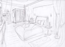 Sala de sono mediterrânea Imagens de Stock Royalty Free