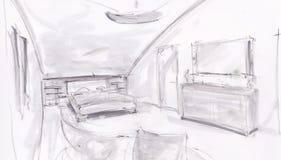 Sala de sono moderna Imagem de Stock