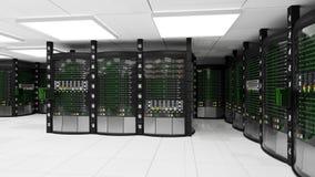 Sala de trabalho moderna do servidor ilustração stock