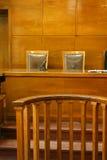 Sala de tribunal foto de archivo