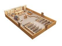 Sala de tribunal libre illustration