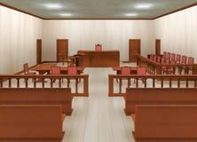 Sala de tribunal Fotografía de archivo