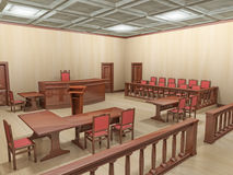 Sala de tribunal Imagenes de archivo