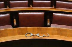 Sala de tribunal Fotos de archivo