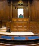 Sala de tribunal muy vieja (1854) con Fotos de archivo libres de regalías