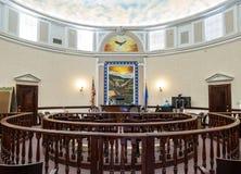 Sala de tribunal, tribunal del condado de Pershing, Nevada foto de archivo