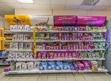 Sala de troca do supermercado Imagens de Stock