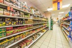 Sala de troca do supermercado Foto de Stock Royalty Free