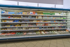Sala de troca do supermercado Foto de Stock