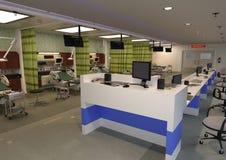 sala de urgencias de la representación 3D imagenes de archivo