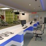 sala de urgencias de la representación 3D Foto de archivo libre de regalías