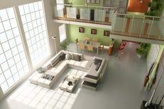 sala de visitas 3d moderna Ilustração Stock