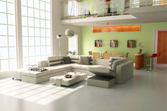sala de visitas 3d moderna Imagem de Stock