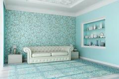 Sala de visitas azul 2 Fotografia de Stock Royalty Free