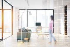 Sala de visitas branca, escritório domiciliário, lado, dobro Imagens de Stock Royalty Free