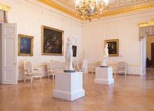 Sala de visitas branca no palácio de Sheremetyev Imagens de Stock Royalty Free
