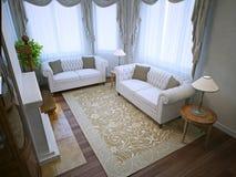 Sala de visitas com iluminação da qualidade Imagens de Stock