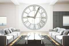 Sala de visitas com janela do pulso de disparo Imagem de Stock Royalty Free