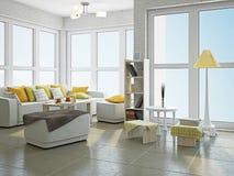 Sala de visitas com mobília Foto de Stock Royalty Free