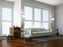 Sala de visitas com mobília Fotografia de Stock