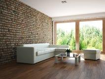 Sala de visitas com mobília Fotografia de Stock Royalty Free