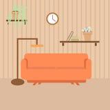 Sala de visitas com mobília no estilo liso Fotografia de Stock Royalty Free