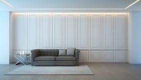 Sala de visitas com o sofá na casa luxuosa, design de interiores do vintage Fotografia de Stock