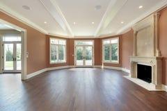 Sala de visitas com paredes alaranjadas Foto de Stock Royalty Free