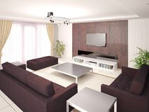 Sala de visitas confortável Ilustração Royalty Free