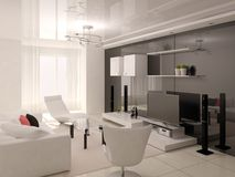 Sala de visitas confortável funcional Ilustração Royalty Free