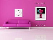 Sala de visitas cor-de-rosa engraçada Fotografia de Stock