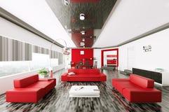 Sala de visitas 3d interior ilustração royalty free