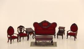 Sala de visitas da mobília da casa de boneca Imagens de Stock Royalty Free