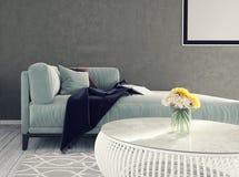 Sala de visitas, design de interiores Fotos de Stock Royalty Free