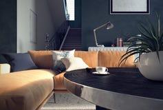 Sala de visitas, design de interiores ilustração royalty free