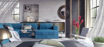 Sala de visitas, design de interiores Foto de Stock Royalty Free