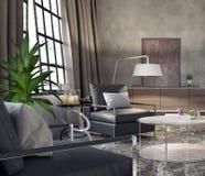 Sala de visitas, design de interiores Foto de Stock