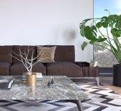 Sala de visitas, design de interiores Imagem de Stock Royalty Free