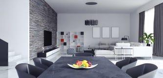Sala de visitas, design de interiores ilustração stock