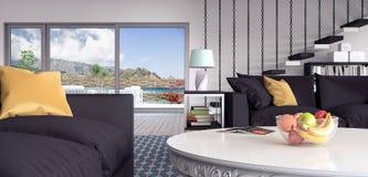 Sala de visitas, design de interiores ilustração do vetor